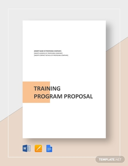 training project proposal