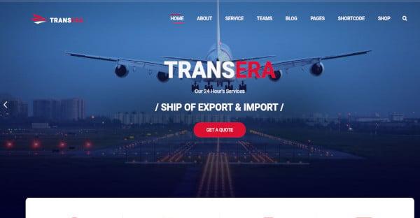 transera logistics parallax wordpress theme
