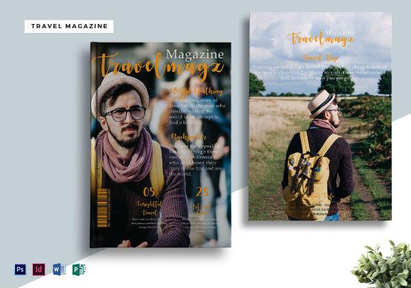 travel magazine mock-up