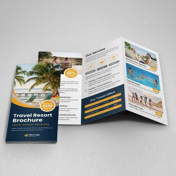 Travel Resort Tri-Fold Brochure Format