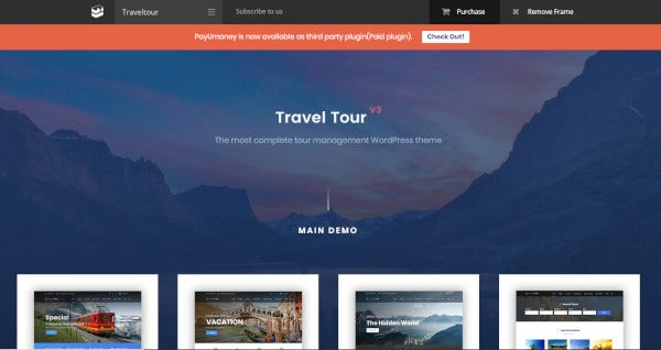 travel tour altair wordpress for travel