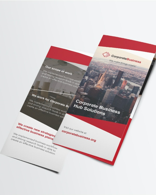 tri fold corporate business brochure layout