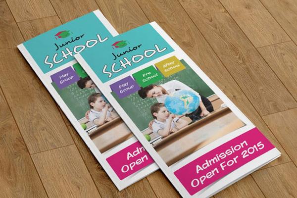 trifold brochure for preschool