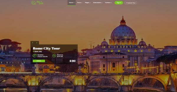 Trip and Guide Custom WordPress Theme