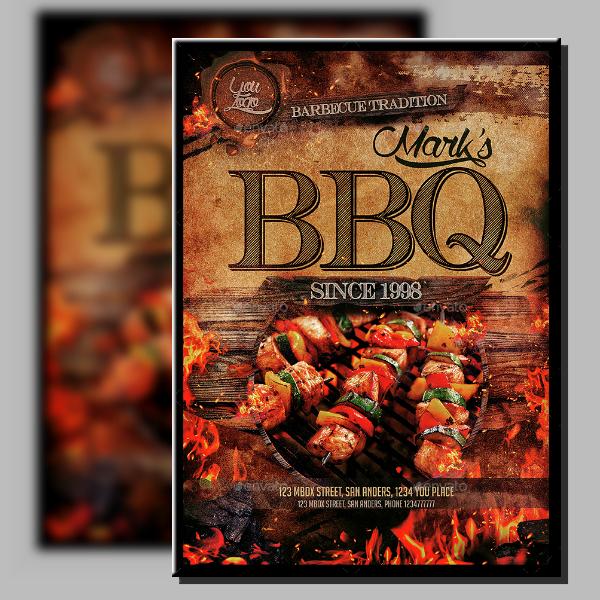 triple skewers barbecue menu design