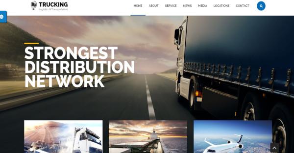 trucking multilingual wordpress theme