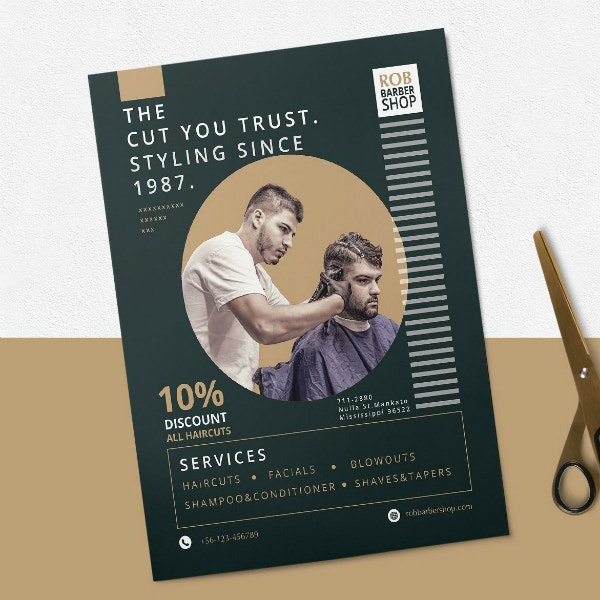 trust styling barber flyer layout