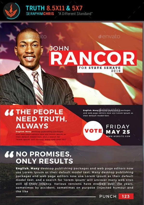 truth political flyer