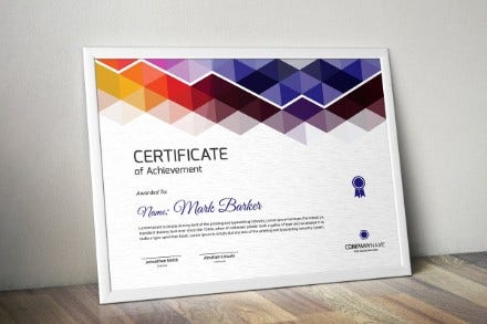 unique certificate template2