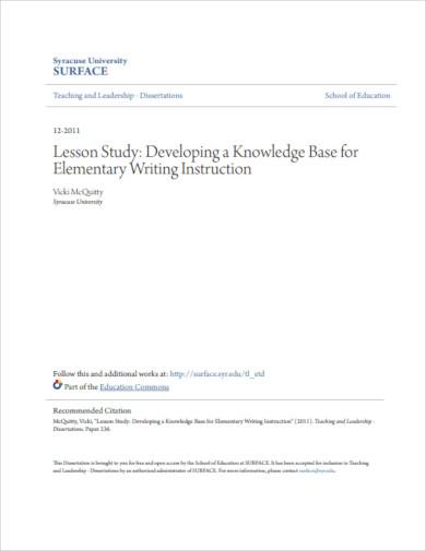 university lesson study