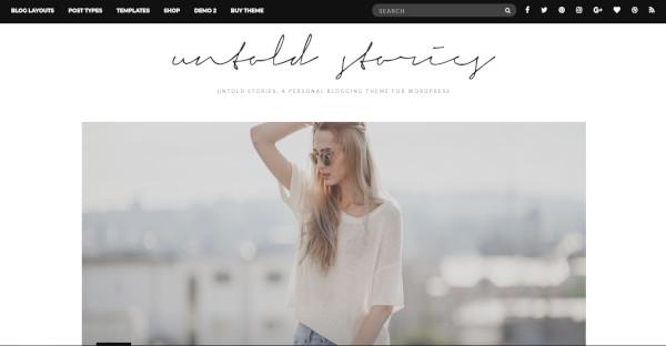 Untold Stories - Social Media Integration WordPress Theme