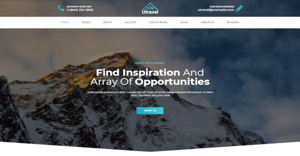 Utravel Custom WordPress Theme