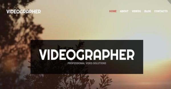 videographer html5 and css3 wordpress theme