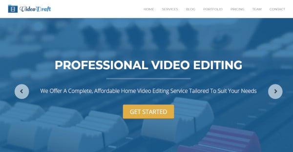video draft – responsive wordpress theme