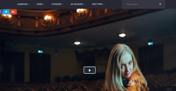 Video stories - Drag and Drop WordPress Theme