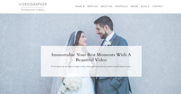 videographer responsive wordpress themes