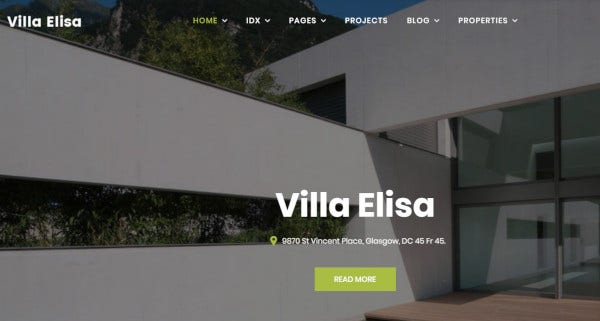 villa elisa – drag and drop wordpress themes