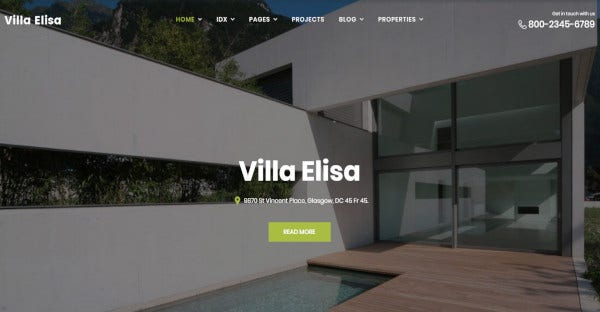 villa elisa advanced wordpress theme