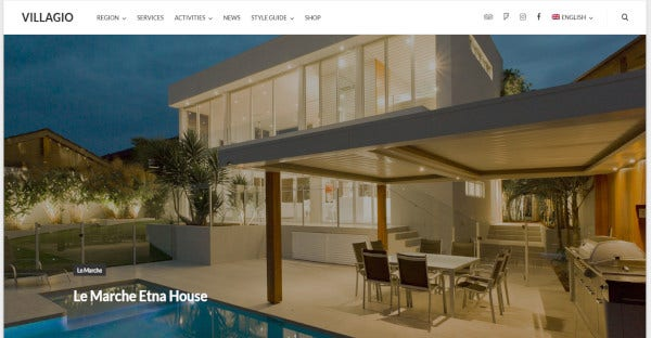 villagio custom wordpress theme
