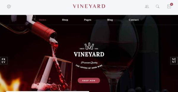 Vineyard Retina Friendly WordPress Theme
