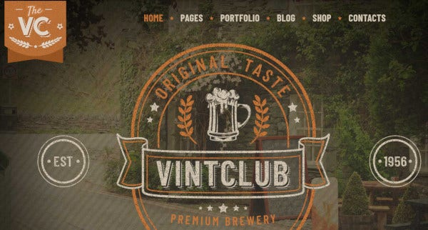 vintclub – responsive wordpress theme