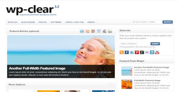WPClear – Mobile Friendly WordPress Theme
