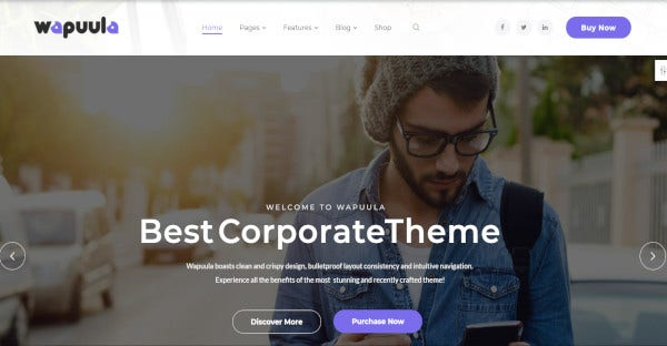 wapuula – retina ready wordpress theme