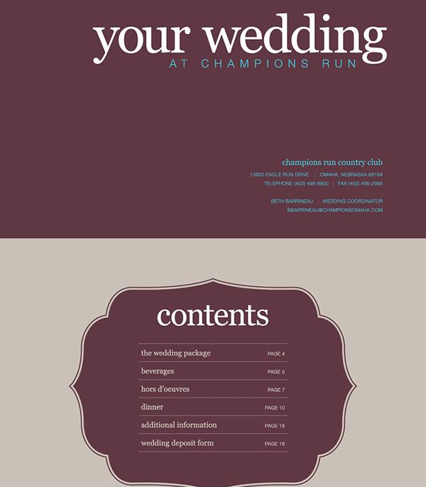 wedding catering brochure