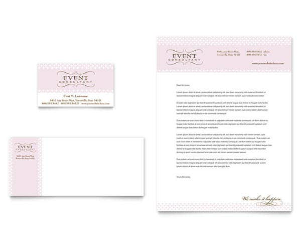wedding catering letterhead sample