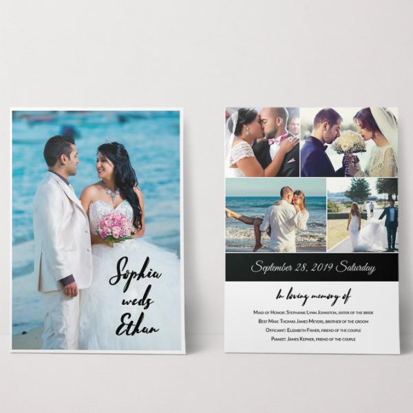 wedding photography invitation card template
