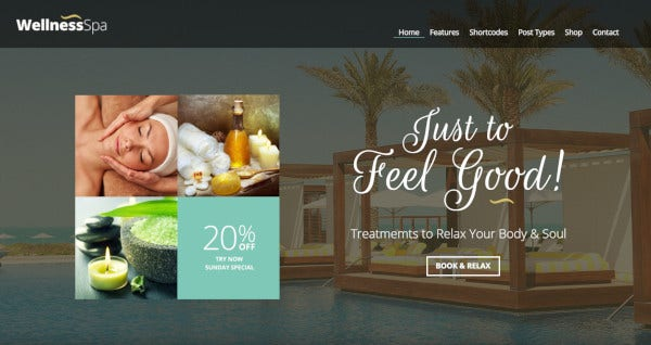 wellness spa –composer plugin wordpress theme