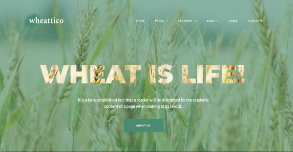 wheattico html wordpress theme