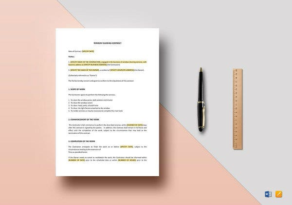 window cleaning contract template2