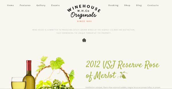 Wine House Classy WordPress Theme