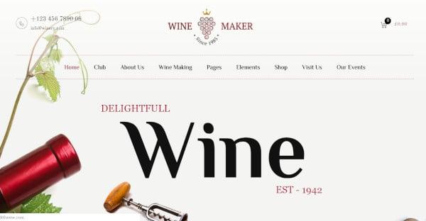 Wine Maker Attractive WordPress Theme