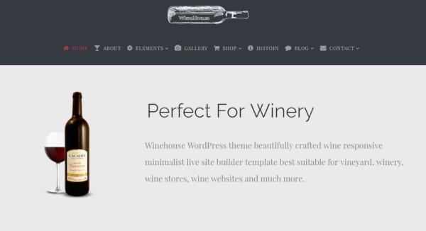 winehouse – customized wordpress theme