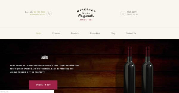 WineShop WooCommerce WordPress Theme