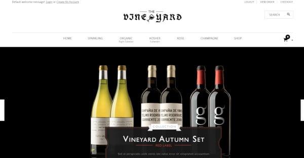 WineStore, or The Vineyard Custom WordPress Theme