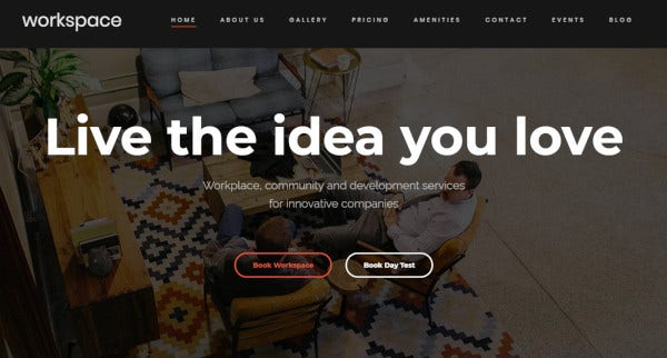 workspace html5 and css3 coded wordpress theme