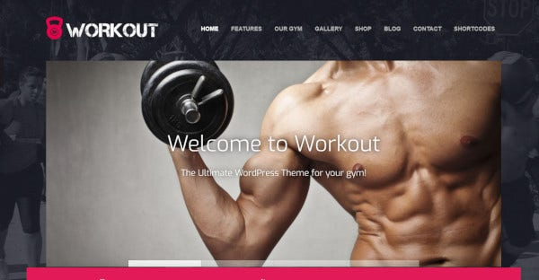 workout speedy wordpress theme