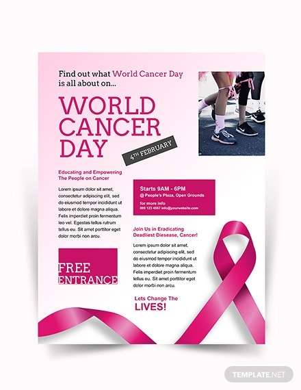 world cancer day flyer layout
