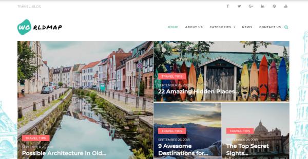 worldmap – custom wordpress theme