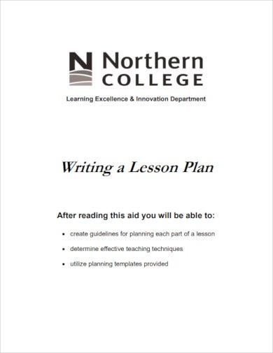 writing a teacher lesson plan
