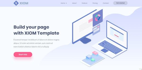 xiom – webapp saas software and tech startup wordpress