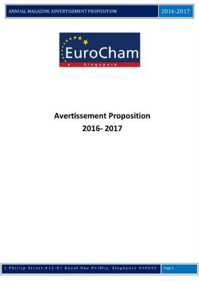 year end magazine advertisement proposal 1