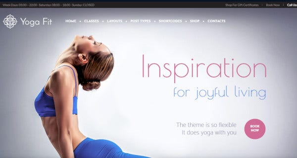 yoga fit woocommerce wordpress theme