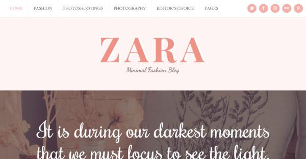 Zara - Typography WordPress Theme