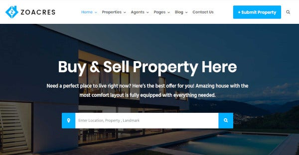 zoacres-real-estate-agent-wordpress-theme