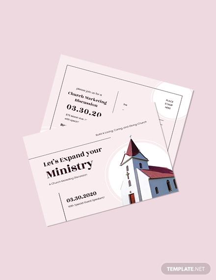 church-marketing-postcard-template