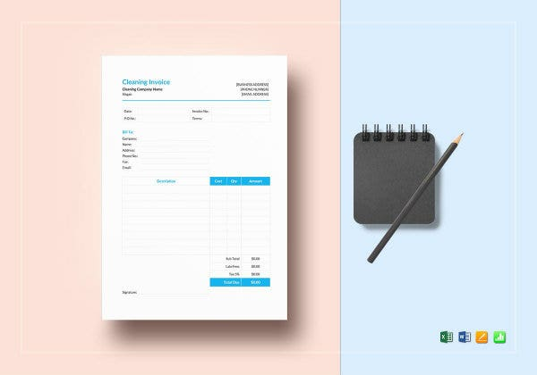 cleaning invoice mockup1